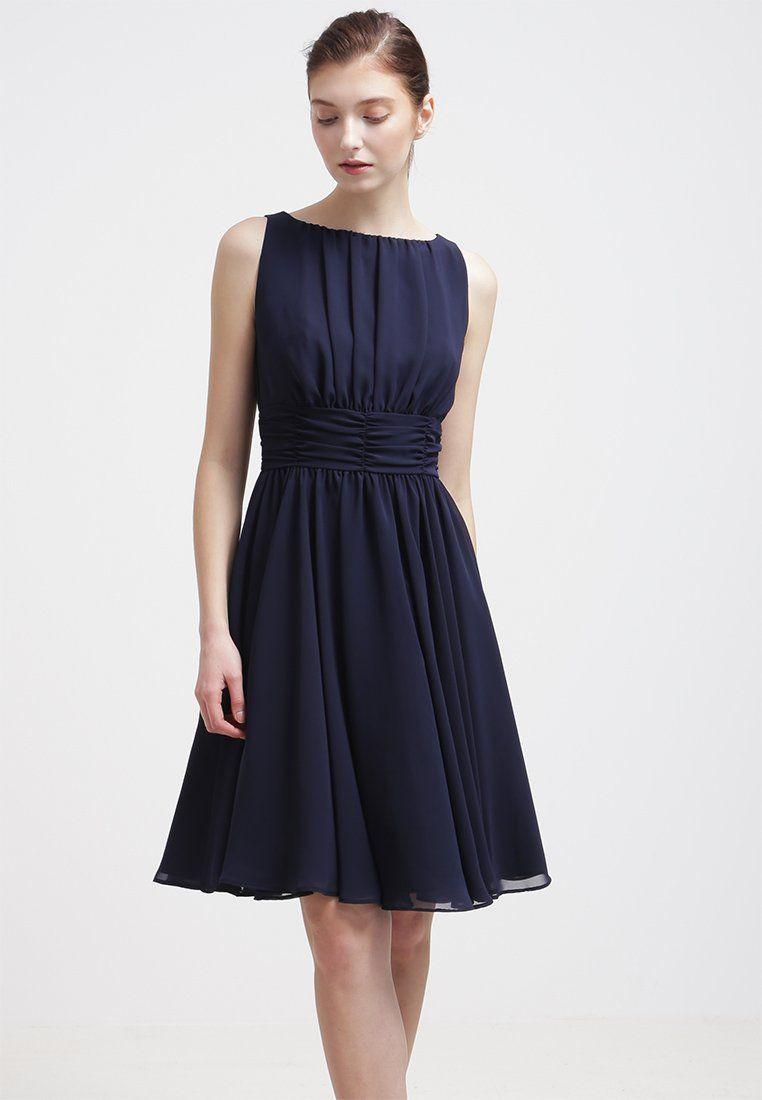 Swing Kleider  Swing Cocktailkleid festliches Kleid schwarz blau