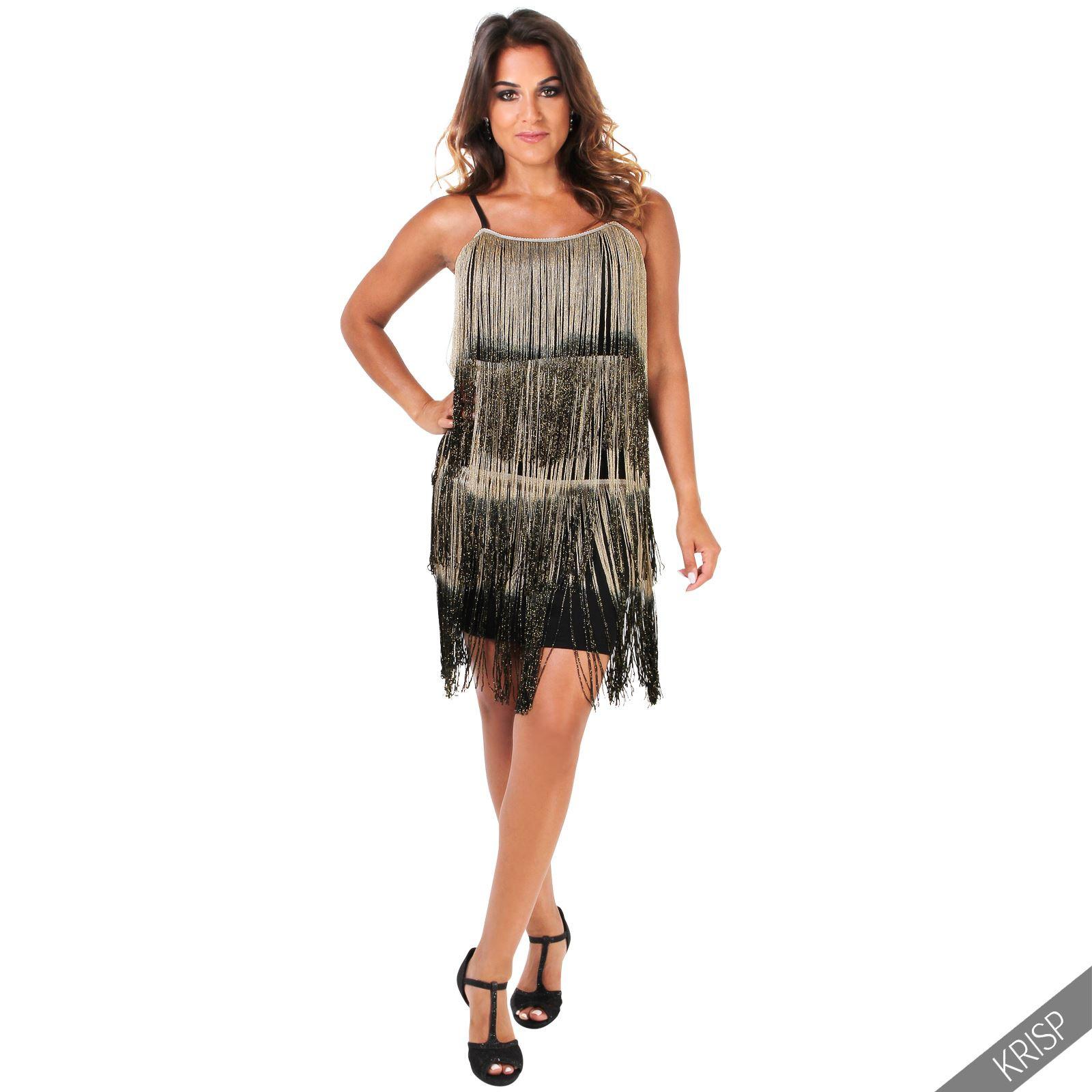 Swing Kleider  Damen Kleid Fransenkleid 20er Jahre Swing Charleston