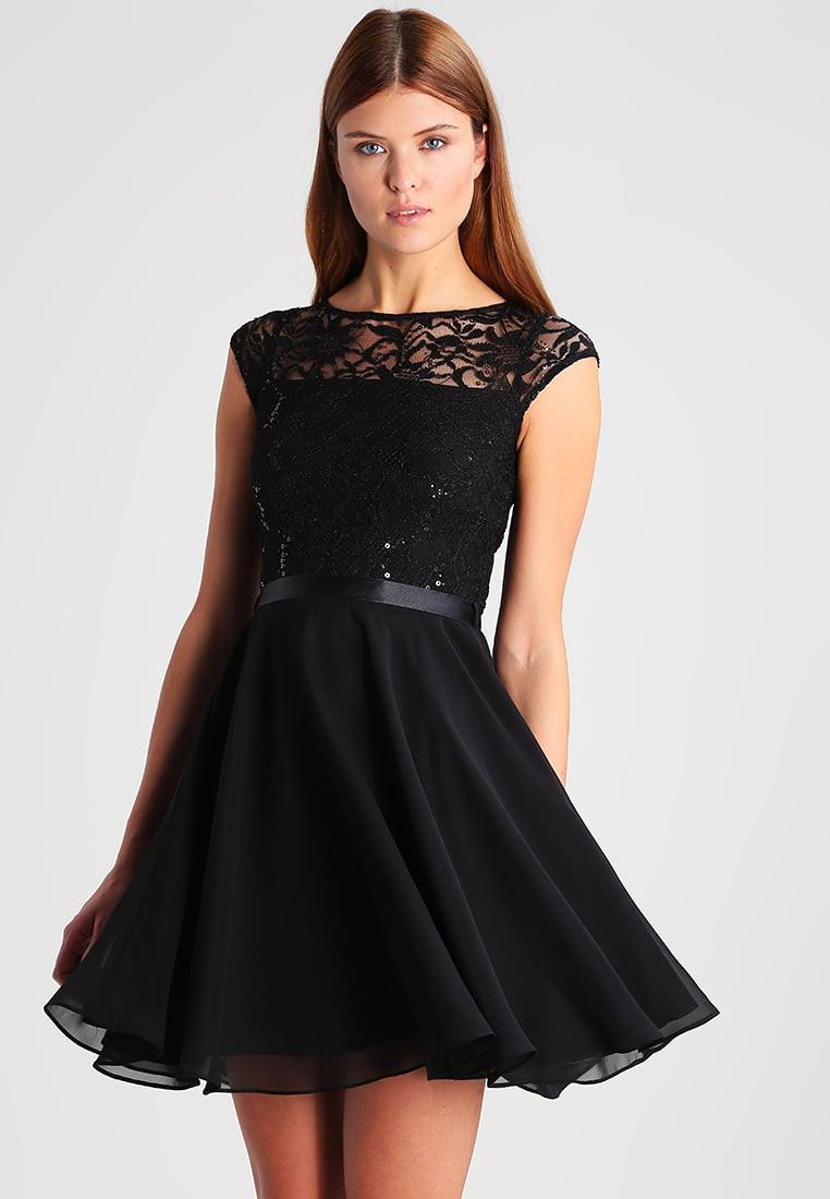 Swing Kleider  Swing cocktailkleid festliches kleid schwarz damen