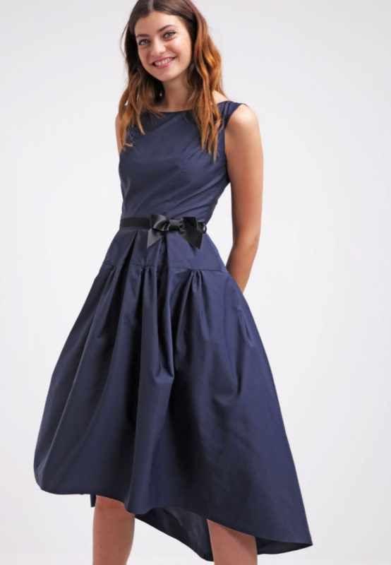Swing Kleider  Swing Cocktail Kleid dunkel blau