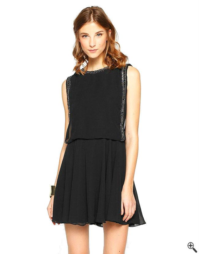 Swing Kleider  Vintage Swing Kleider – Schwarzes Damen Outfit im 50er