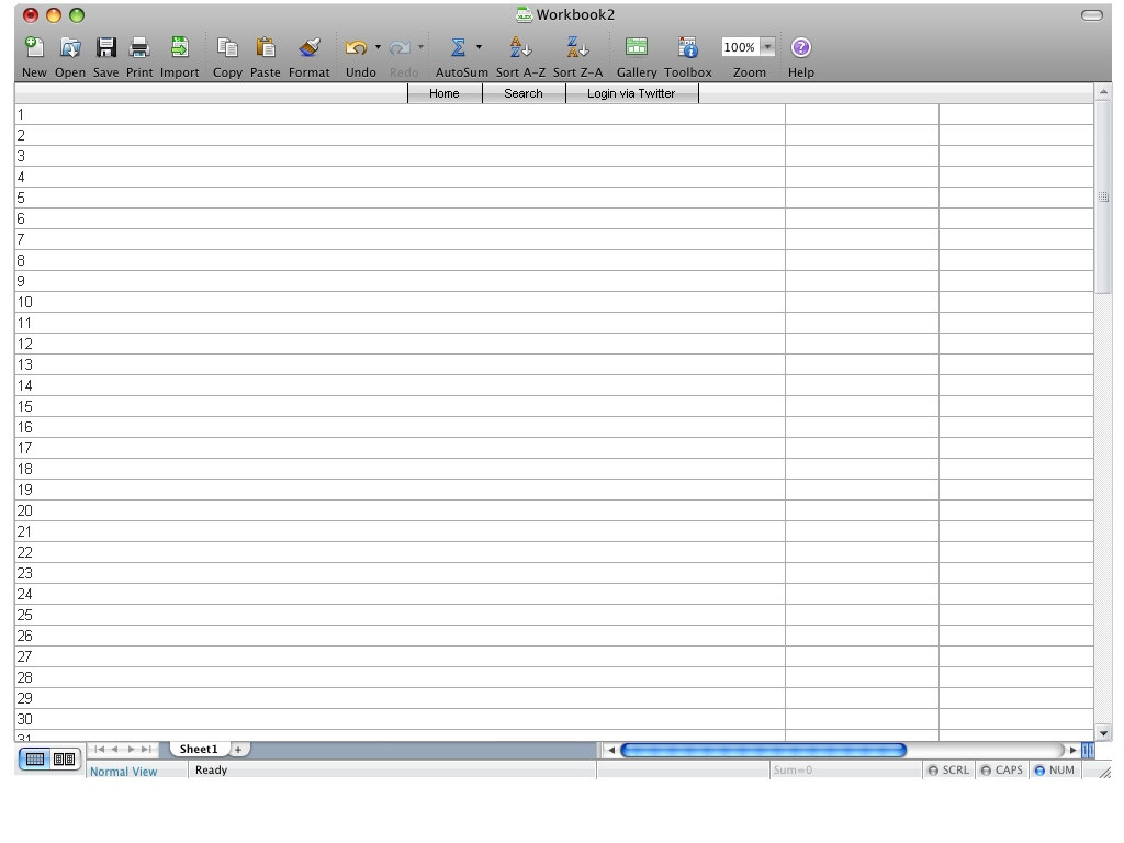 Tabelle Html  Spreadtweet Twitter Client als Excel Tabelle arnt