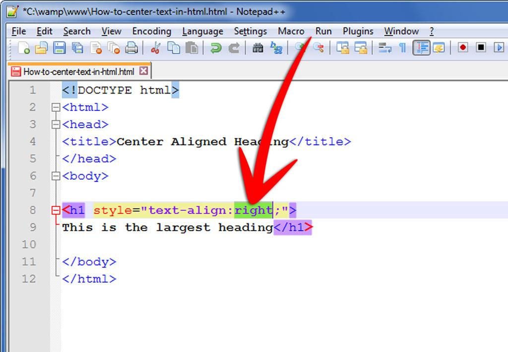 Tabelle Html  ment centrer un texte en HTML 9 étapes