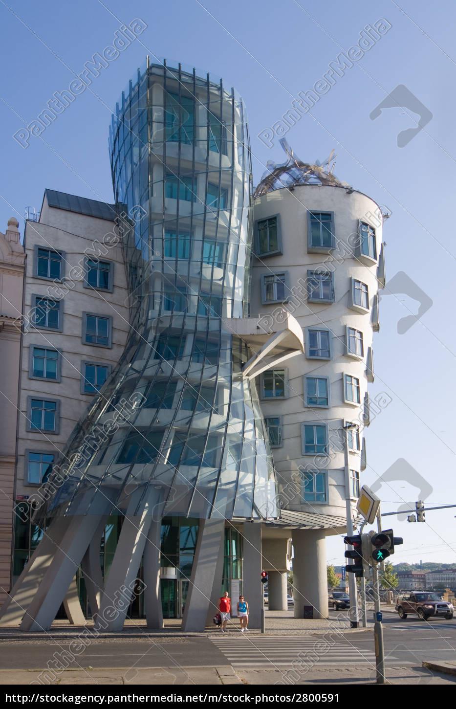 Tanzendes Haus Prag  Tanzendes Haus Prag Lizenzfreies Bild