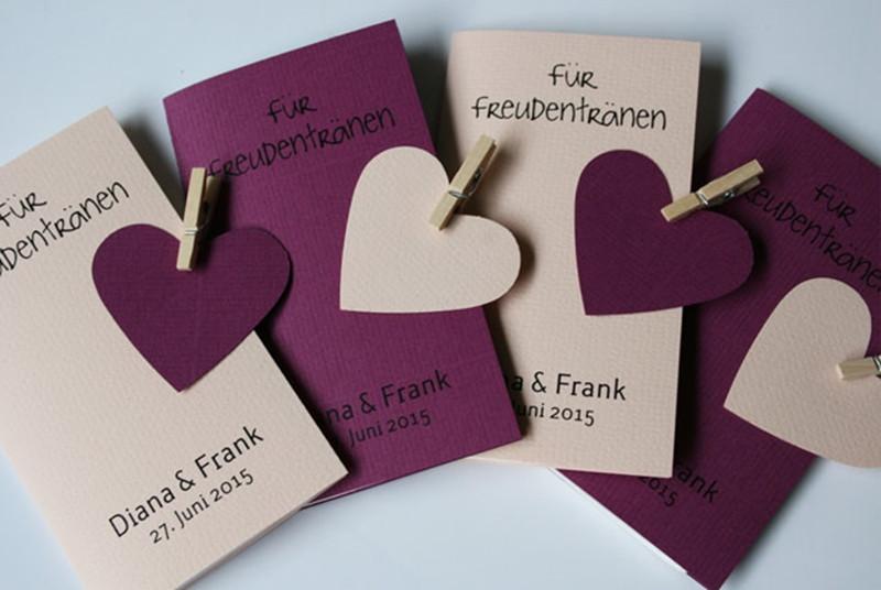Taschentücher Hochzeit  Hochzeitskarten VINTAGE Aylando Hochzeitskarten