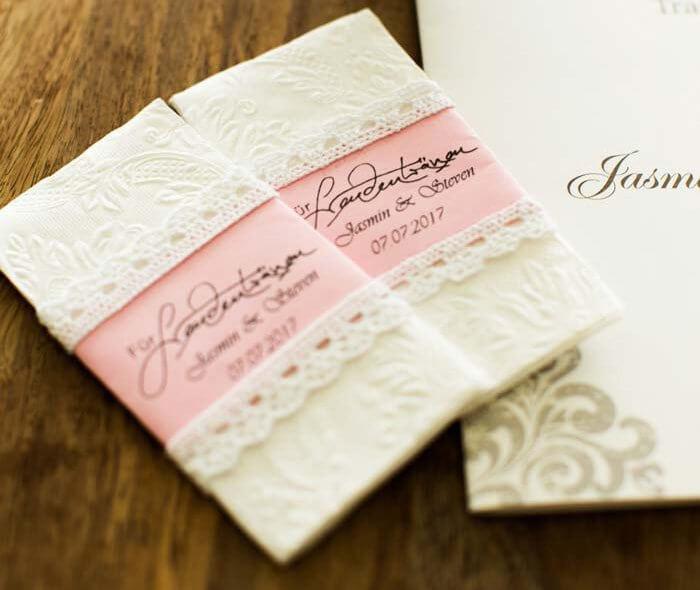 Taschentücher Hochzeit  Freudentränen Taschentücher zur Hochzeit