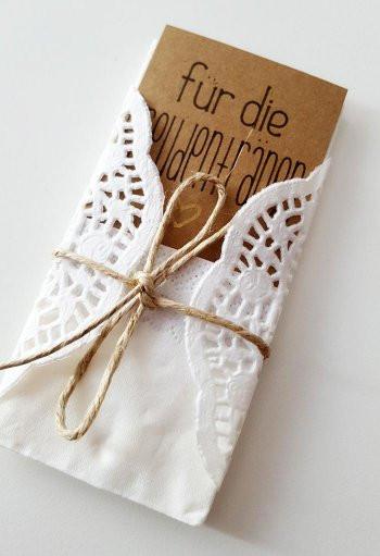 Taschentücher Hochzeit  Freundentränen Taschentücher selber machen Schritt für