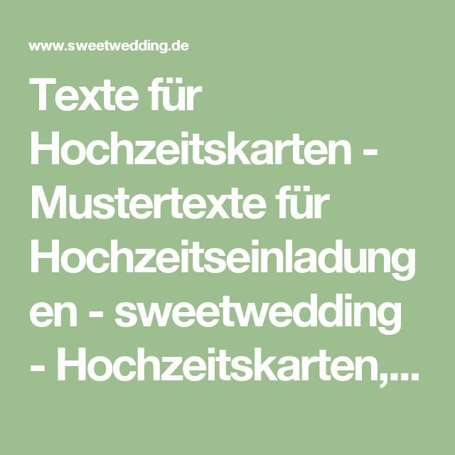 Texte Für Hochzeitskarten  Texte für Hochzeitskarten Mustertexte für
