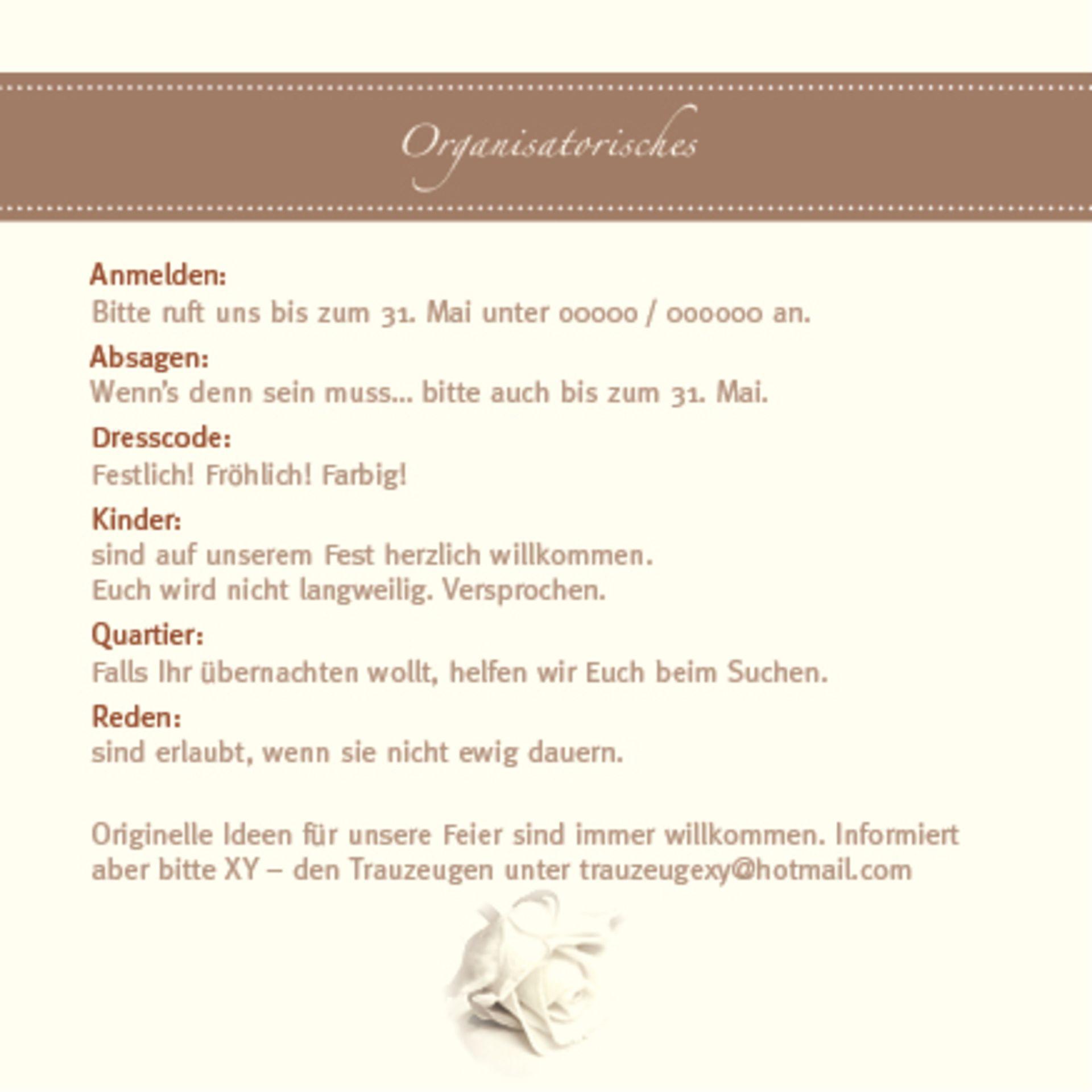 Texte Für Hochzeitskarten  Organisation rund um Hochzeit Texte für Informelles