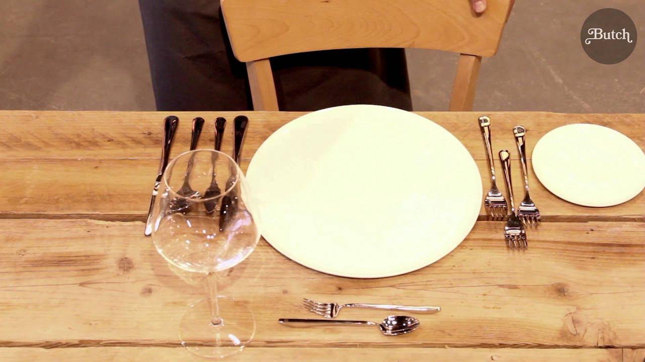 Tisch Decken  Tisch richtig decken Videoanleitung
