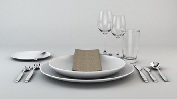Tisch Decken  Geschirr und Besteck richtig eindecken