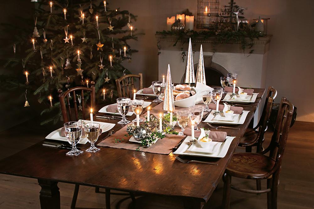 Tisch Decken  tisch weihnachtlich decken