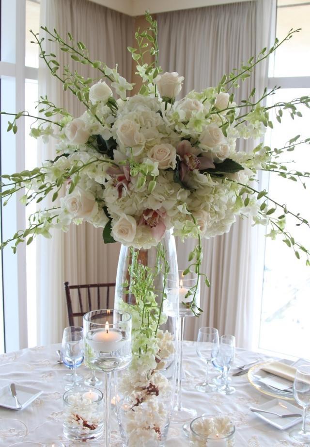Tischdeko Hochzeit Grün Weiß  Hochzeit im Frühling 57 Ideen für eine traumhafte Tischdeko