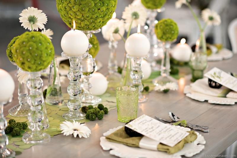 Tischdeko Hochzeit Grün Weiß  Festliche Tischdekoration sechs wertvolle Tipps