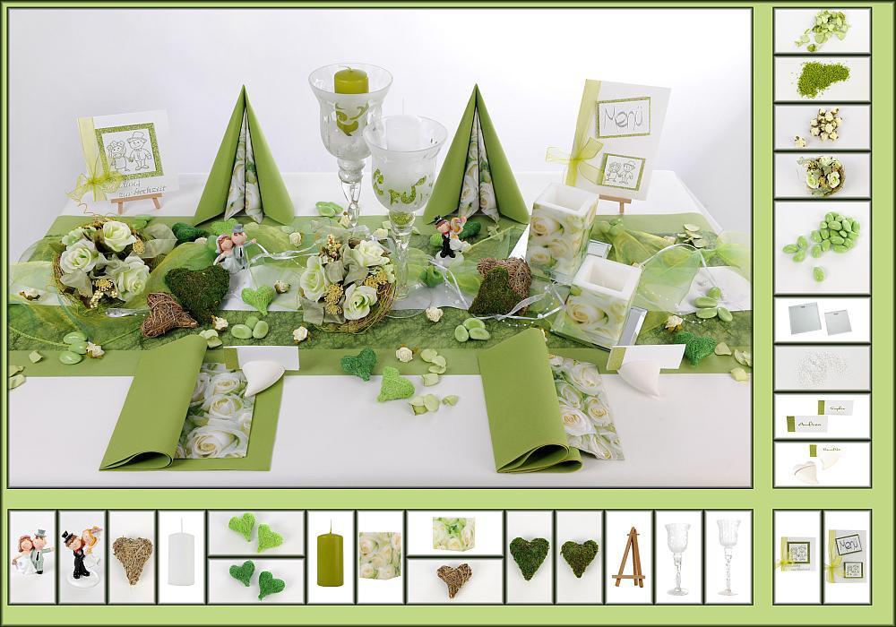 Tischdeko Hochzeit Grün Weiß  10 Mustertisch Weiße Rosen Tischdeko Hochzeit