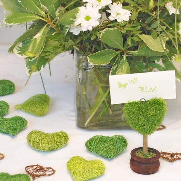 Tischdeko Hochzeit Grün Weiß  Tischdeko für Hochzeit in Grün weddix