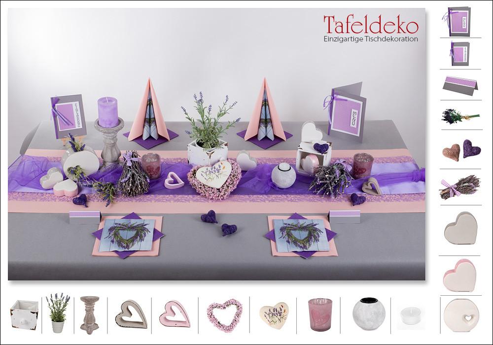 Tischdeko Hochzeit Mustertische  4 Mustertisch Lavendel Tischdeko Hochzeit