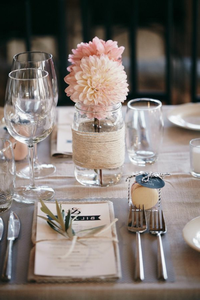 Tischdeko Hochzeit Mustertische  40 leichte schnelle und günstige Tischdekoration Ideen