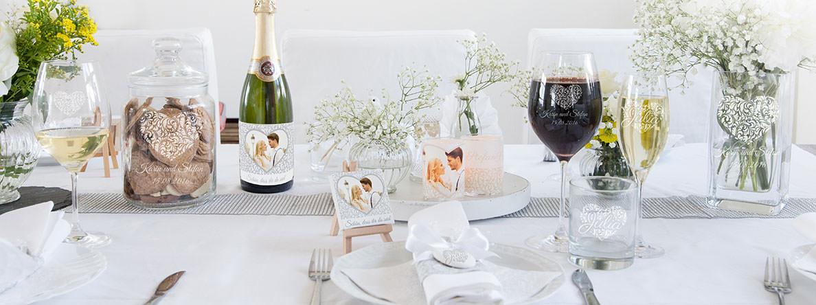 Tischdeko Zur Hochzeit  Hochzeit Tischdeko selbst online gestalten