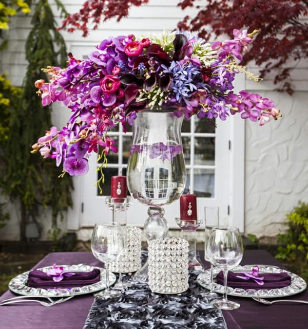 Tischdeko Zur Hochzeit  Tischdeko zur Hochzeit in lila Farbe 34 Bilder