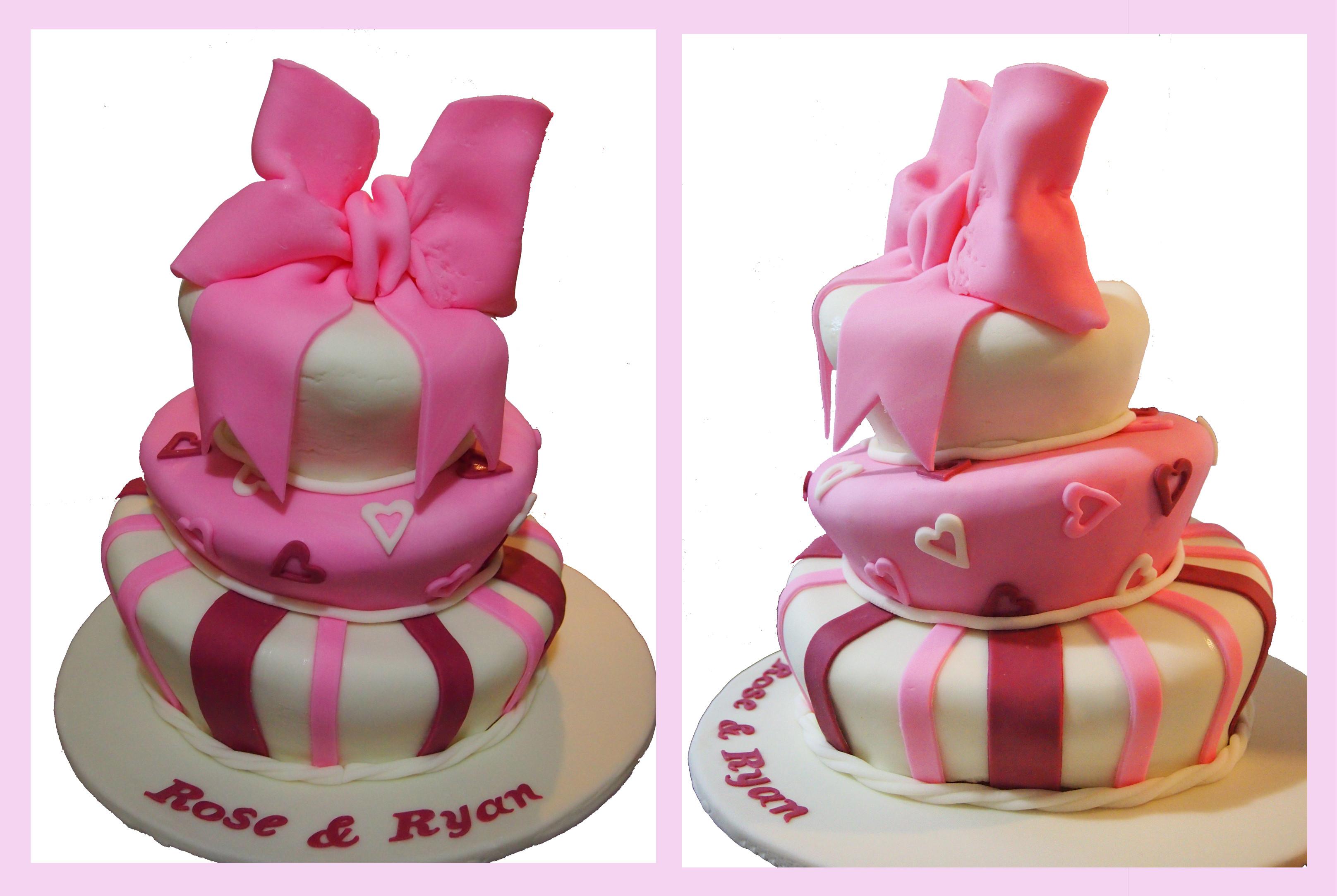 Topsy Turvy Hochzeitstorte  Pink Topsy Turvy Cake