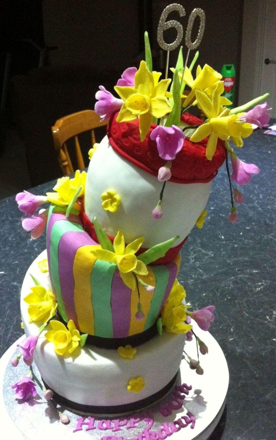 Topsy Turvy Hochzeitstorte  Topsy Turvy 60Th CakeCentral