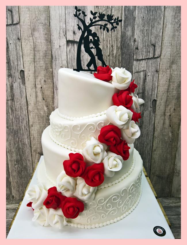 Topsy Turvy Hochzeitstorte  Hochzeit
