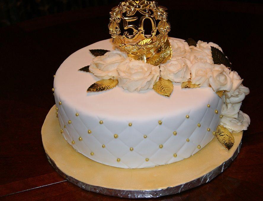 Torte Goldene Hochzeit  Sahne Schokolade Hochzeitstorte Deko Ideen Anfänger