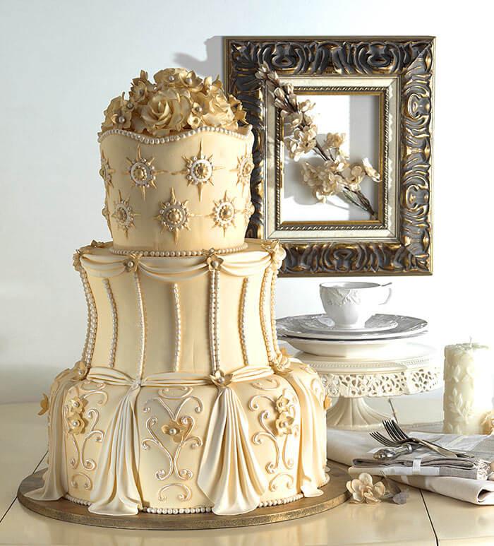 Torte Goldene Hochzeit  Torte Goldene Hochzeit Galerie Hochzeitsportal24