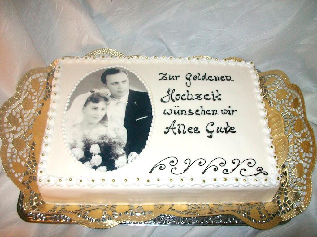 Torte Goldene Hochzeit  Rezept backofen Torte zur hochzeit