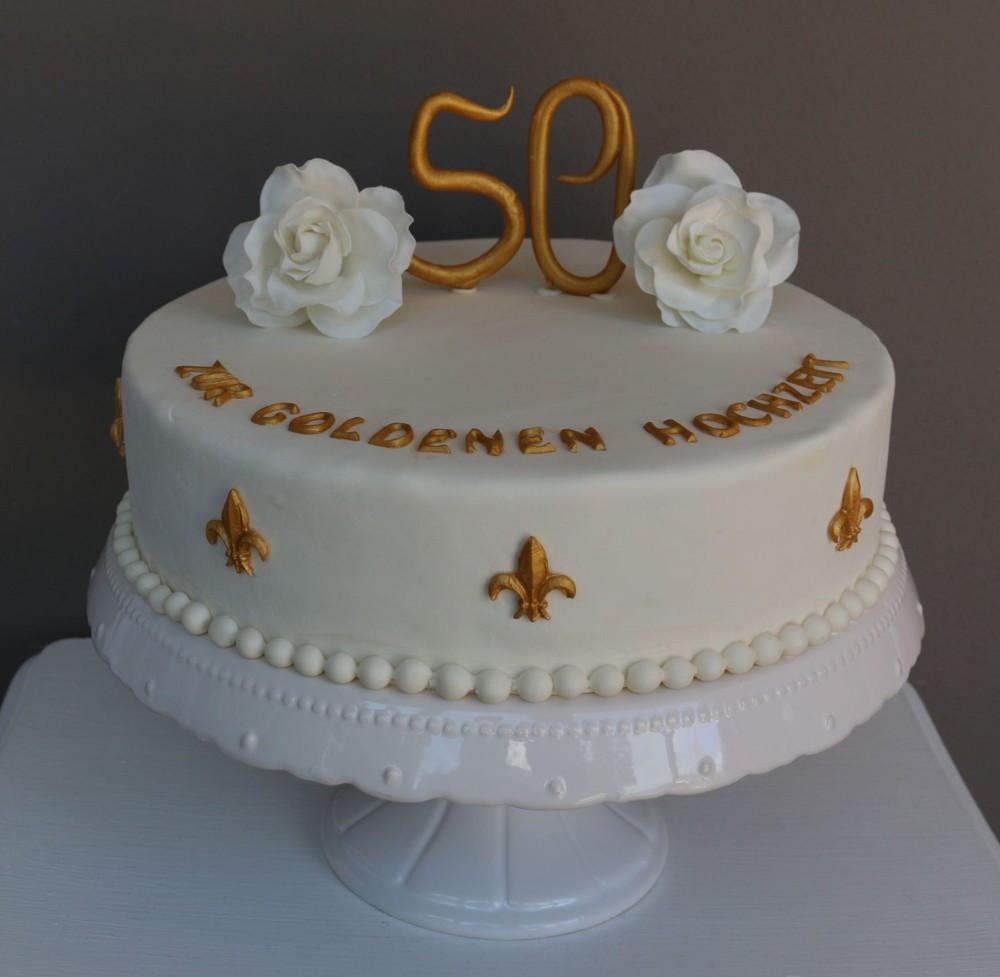 Torte Goldene Hochzeit  Torte Zur Goldenen Hochzeit Rezept