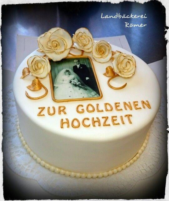 Torte Goldene Hochzeit  Torte zur goldenen Hochzeit 💒 💏 roemer