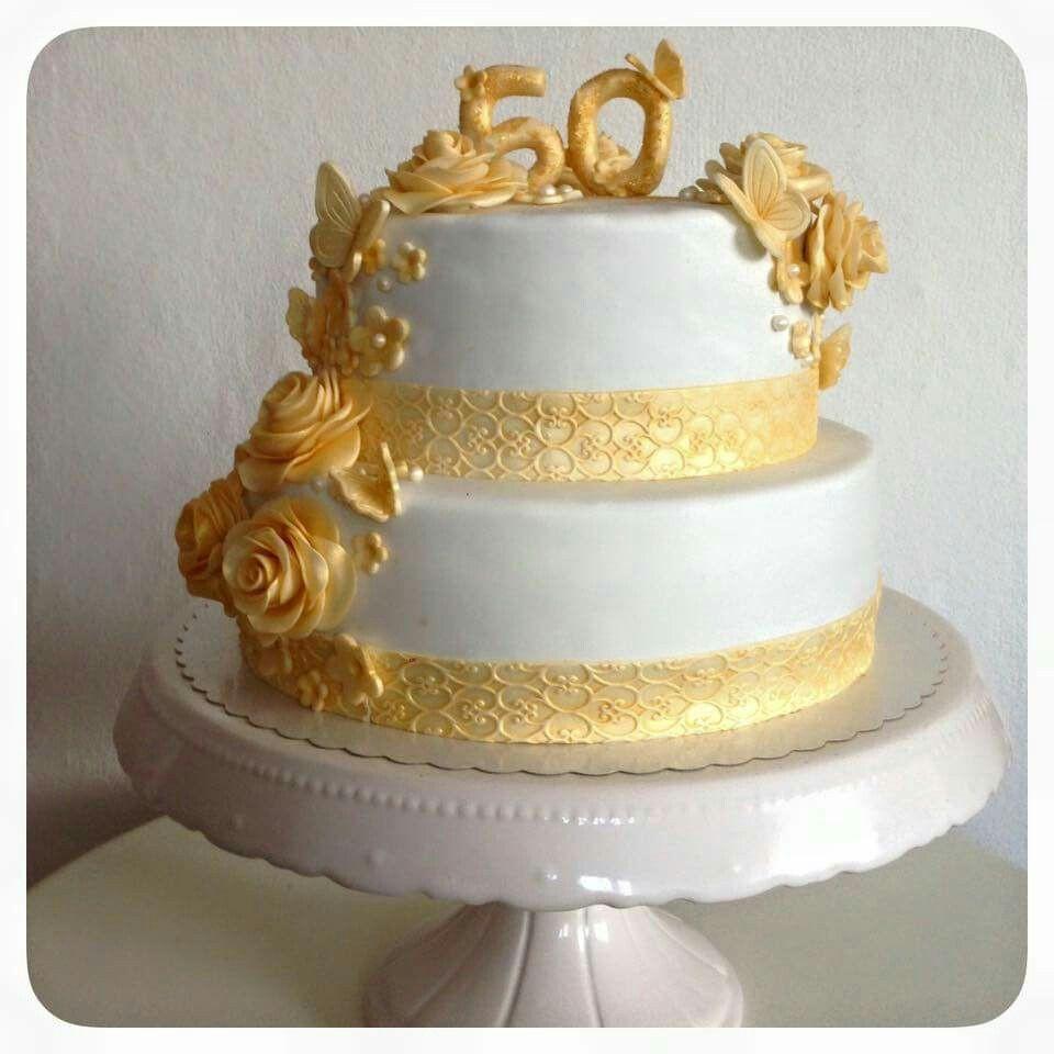 Torte Goldene Hochzeit  Pin von Corinna Steinhausen auf Kuchen