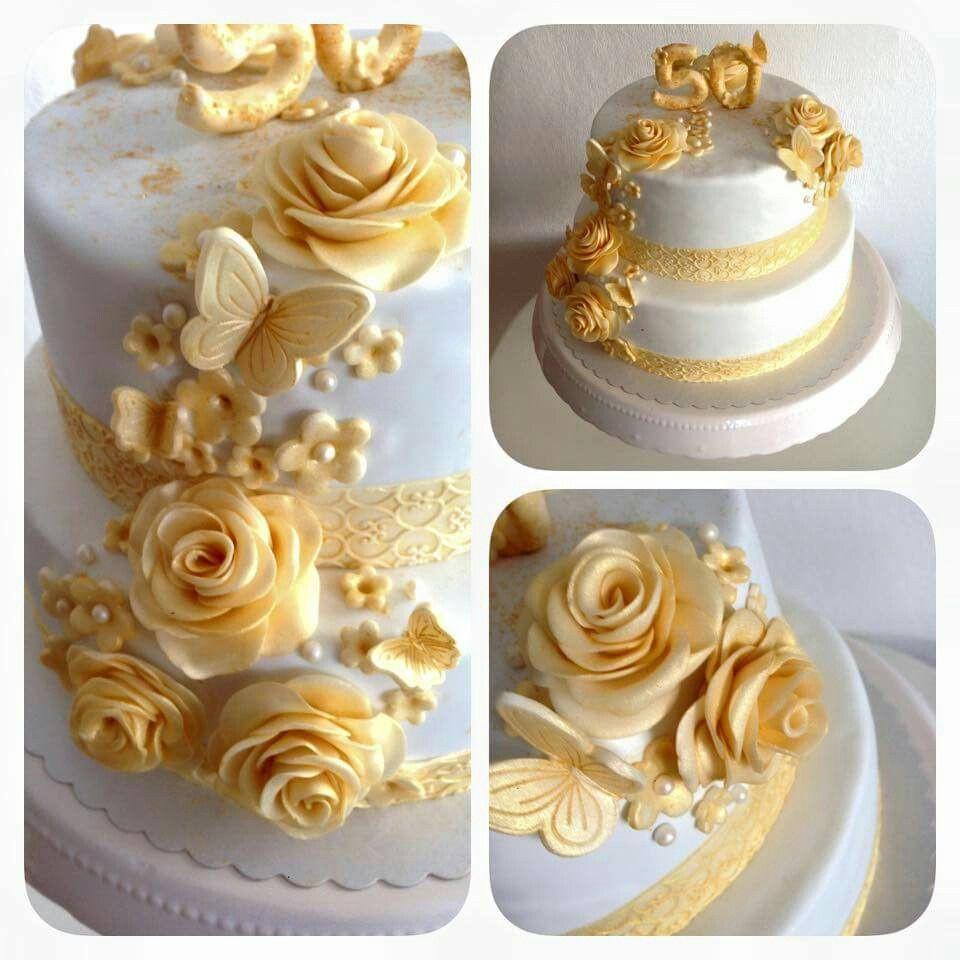 Torte Goldene Hochzeit  Bildergebnis für goldene hochzeit torte