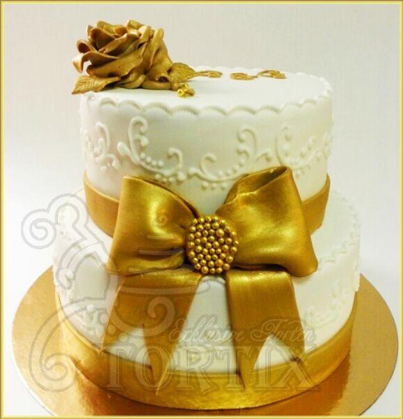 Torte Goldene Hochzeit  Tortix Torte zur goldene Hochzeit