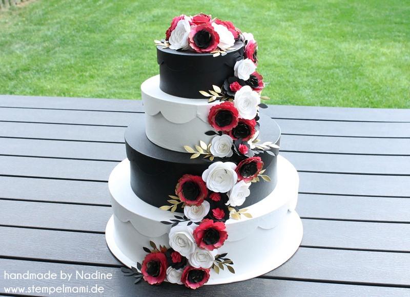 Torte Hochzeit  Die Hochzeitstorte Basteln mit Stampin Up