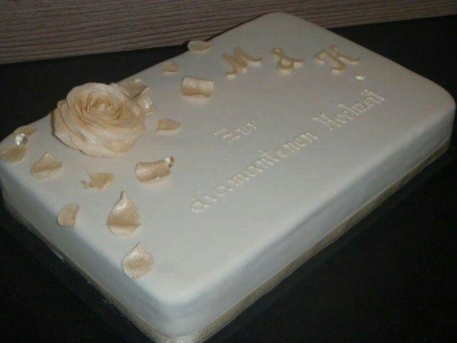 Torte Hochzeit  Torte diamantene Hochzeit