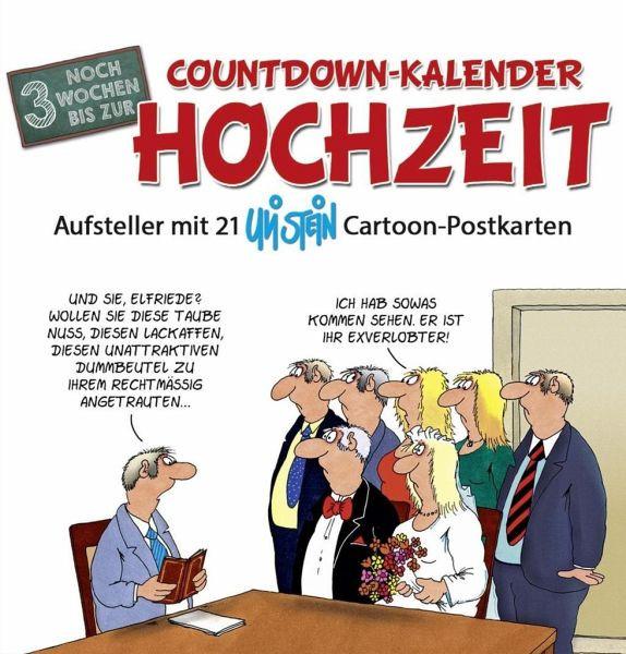 Uli Stein Hochzeit  Countdown Kalender Hochzeit von Uli Stein Kalender