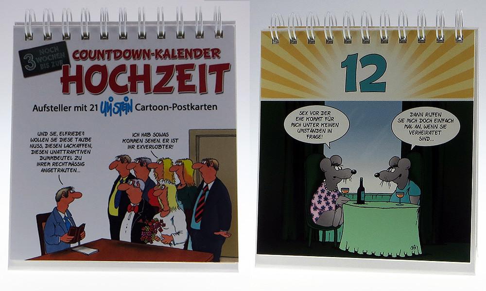 Uli Stein Hochzeit  Uli Stein Countdown Kalender Hochzeit U9660