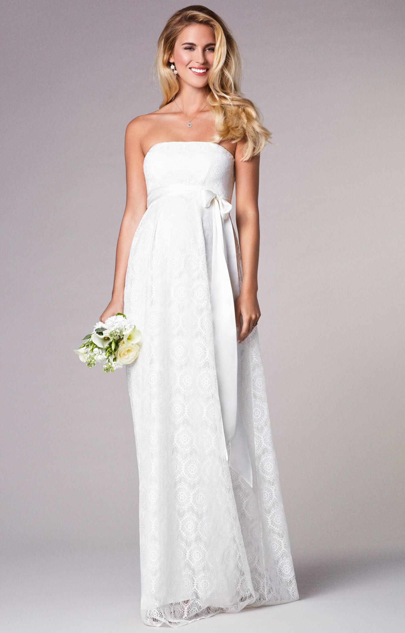 Umstands Hochzeitskleid  Liara Umstands Hochzeitskleid lang in Elfenbein
