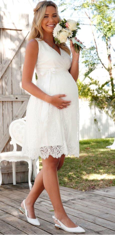 Umstands Hochzeitskleid  Festliche Umstandsmode für besondere Anlässe