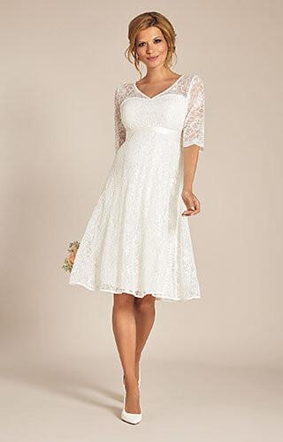 Umstands Hochzeitskleid  Flossie Umstands Hochzeitskleid kurz Elfenbein