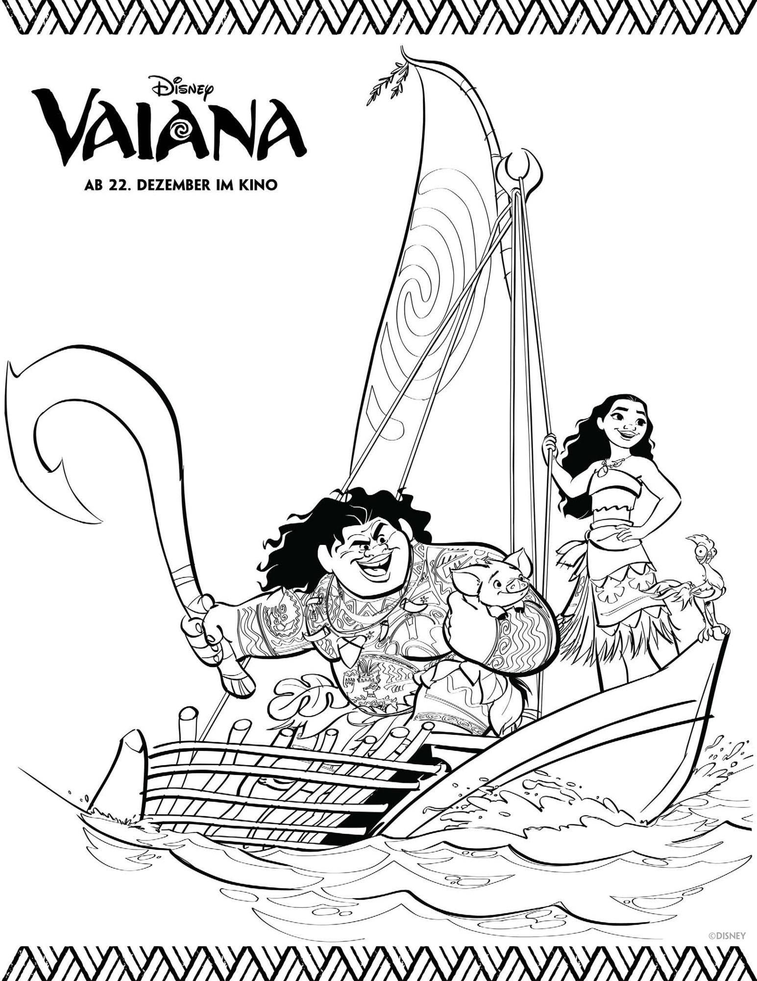 die besten ideen für vaiana ausmalbilder  beste