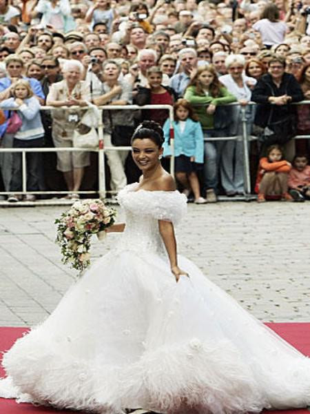 Verona Pooth Hochzeitskleid  Brautkleider der Stars