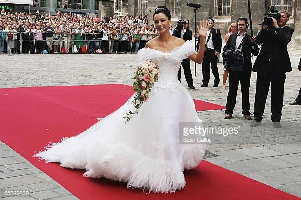 Verona Pooth Hochzeitskleid  Verona Pooth Wedding Foto e immagini stock