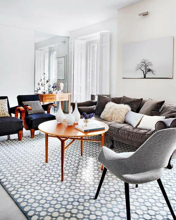 Vintage Wohnzimmer  Couchtisch Vintage Stil für Wohnzimmerausstattung