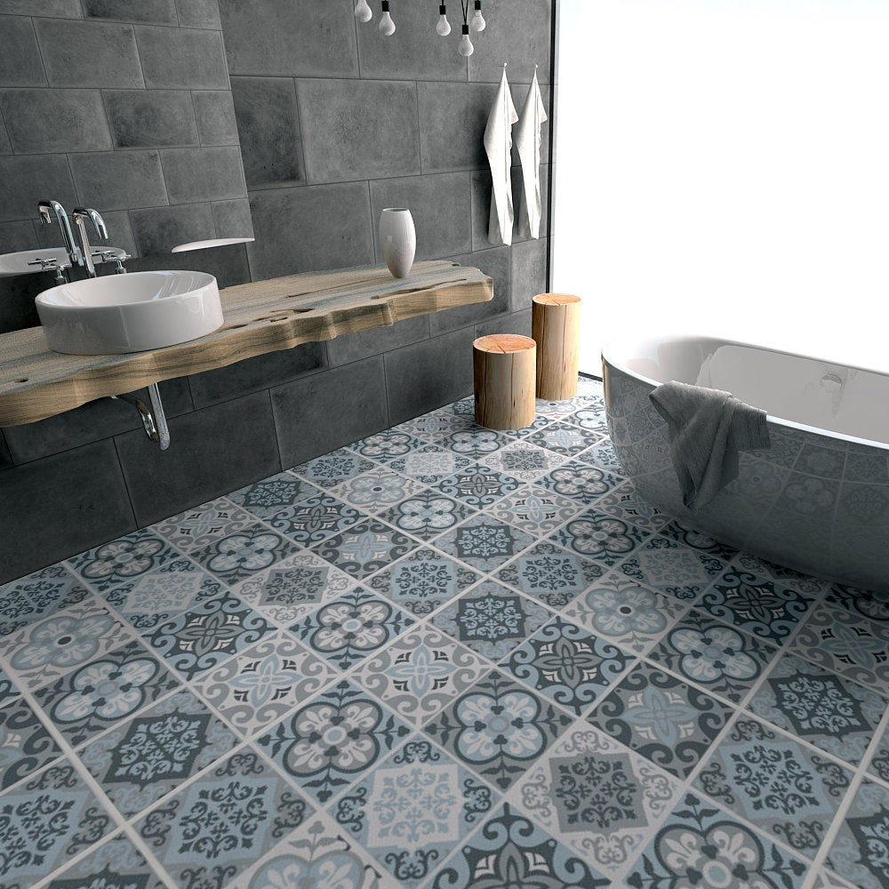 Vinyl Fliesen  Floor Tile Decals Flooring Vinyl Floor Bathroom flooring