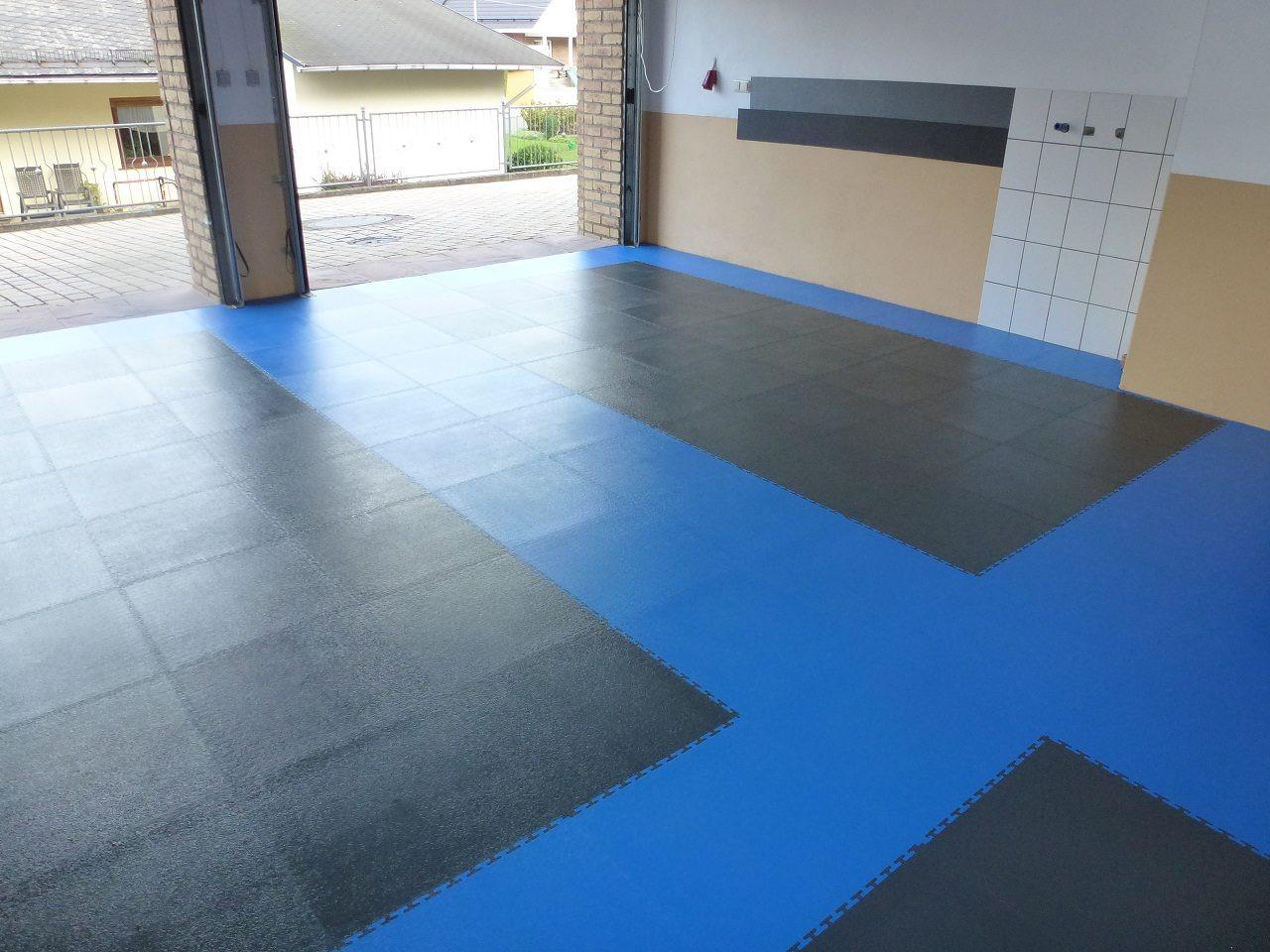 Vinyl Fliesen  PVC Garagenboden mit Klicksystem aus Fliesen Platten – PVC