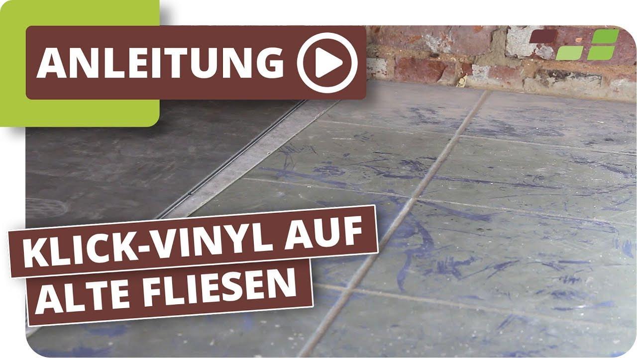 Vinyl Fliesen  Vinylboden auf Fliesen Planeo Klick Vinyl