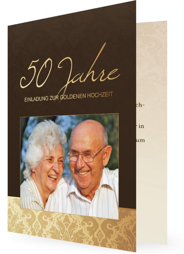 Vortrag Für Goldene Hochzeit  Vorlage für Einladung Goldene Hochzeit